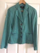 Per una Marks & Spencer chaqueta de lino 100% Puro Talla UK 8 (Menta)