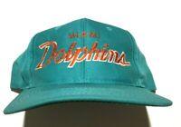 Vintage 90s Sports Specialties Miami Dolphins Script Hat Cap The Twill Snapback