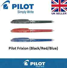 3 x PILOT FriXion Ball Erasable Rollerball Pens 0.5mm Black + Blue +Red CHEAP