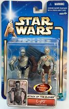 STAR WARS Figures C3PO Protocol Droid Attack Of The Clones AOTC Carded