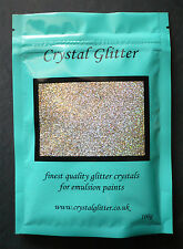 Crystal Glitter for emulsion paint wall, + colour changing holographic crystals!
