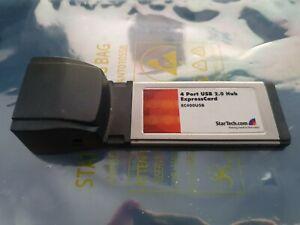 StarTech.com EC400USB 4 Port ExpressCard Laptop USB 2.0 Adapter Card