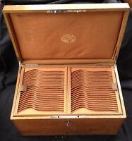 Grand coffre bois Christofle XIXè pour ménagère 24 couverts individuels (264 p)
