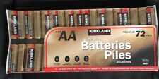 72-Pack Kirkland Signature Alkaline AA Batteries EXP 2027 Made By Duracell USA