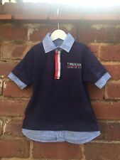 AGE 5 Years Boys Timberland Navy Shirt Style T Shirt Designer Kids Clothing