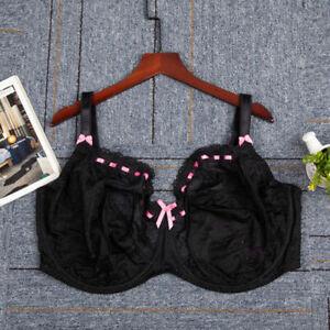 28-40 E F F G  H K Women's Big Size Underwire Lace Non Padded Full Coverage Bra