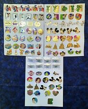 Disney Cast Lanyard Series 1 Complete Pin Set 2002 Over 100 Pins! Holy Grail!