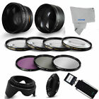 55MM HD WIDE ANGLE + TELEPHOTO + MACRO + Filter Set Accessories for Nikon D3400
