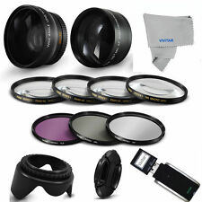 PRO ACCESSORIES + WIDE ANGLE LENS + ZOOM LENS FOR CANON EOS REBEL T5 T5I T3 T3I