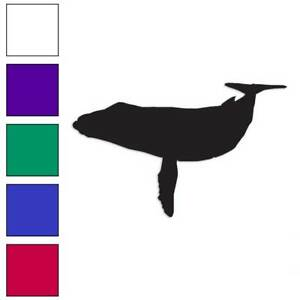Humpback Whale Decal Sticker Choose Color + Size #902