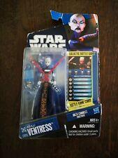 2010 Lucasfilm Figurine STAR WARS Asajj Ventress CW15 Neuf Sous Blister