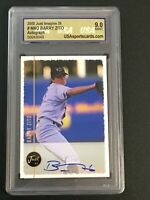 1999 Just Autographs #131 Barry Zito IM '00 AUTO 9.0 MINT GRADED