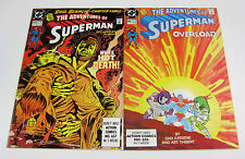 Adventures of Superman #469 & #470 Both Signed by Dan Jurgens! DC COMICS 1990