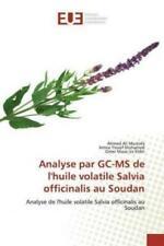 Analyse par GC-MS de l'huile volatile Salvia officinalis au Soudan Analyse  5947