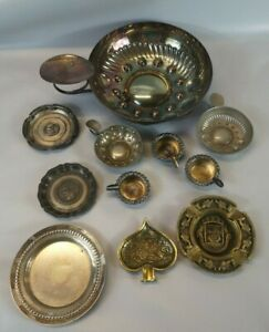 LOT DIVERS TASTEVIN CENDRIER Vide Poche Bronze Metal argente collection Z