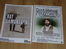 Ray Lamontagne - Scottish tour Glasgow concert gig posters x 2