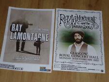 Ray Lamontagne - Scottish tour Glasgow live music concert show gig posters x 2