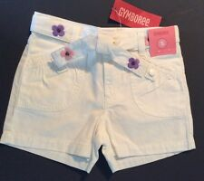 NWT Gymboree  GLAMOUR SAFARI White Cotton Shorts Adorable Size 5