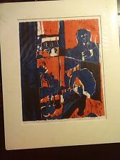 """Carole Sue Lebbin Woodblock Print """"FOR EVERYTHING THERE IS A ..."""" #5/5 - 9/1970"""