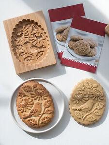 Cookie Biscuits Shortbread Mold Wood Practical Kitchen Baking Tools DIY