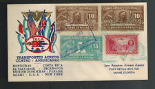 1943 Nicaragua TACA Airlines First Flight Cover FFC to Miami USA