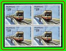 PHILIPPINES 1984 LIGHT RAIL TRANSPORT block of 4 SC#114-17 MNH M-P