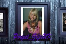 Kaley Cuoco The Big Bang Theory SIGNED AUTOGRAPH FRAMED 10x8 REPRO PHOTO PRINT