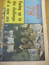 1978 COVENTRY evening Telegraph: CALCIO'78 - 32 pagine annuali, lo stile di giornale, c