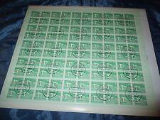 Briefmarken  DDR , Post - Bogen  ,100  x 10 Pfennig , Berlin  Republik - Palast