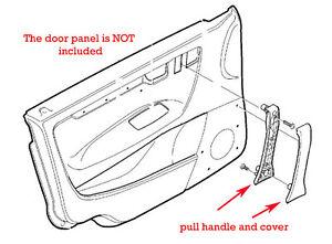 39986954  dark gray Interior door pull handle volvo V70 XC70 S60 drivers front