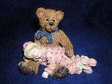 Boyds Bears DOLLSTONE SHELBY..ASLEEP IN TEDDY'S ARMS 1E NEW & Never Displayed