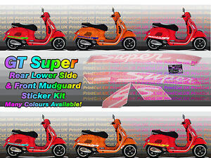 Vespa GTS Super Stripes Decal Stickers GT 125 250 300 2006-2019, many colours
