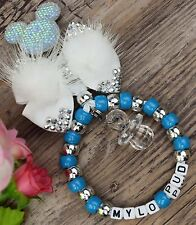 Personalised stunning pram charm in turquoise baby girls and boys other colou