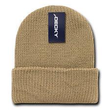 Khaki Beige GI BEANIE HAT Cuffed Knit Winter Watch Cap ski snowboard skully