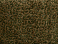 Drapery Upholstery Fabric Chenille Animal Print Leopard - Hunter on Lt. Avacodo