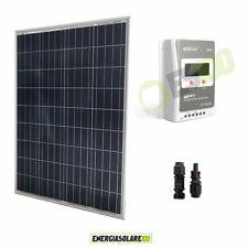 Kit Pannello Solare Fotovoltaico 100W 12V Regolatore di carica 10A MPPT