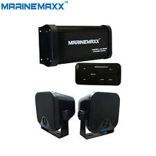 """Waterproof Marine Bluetooth Amp Car Stereo System 4-Channel+4"""" Outdoor Speakers"""