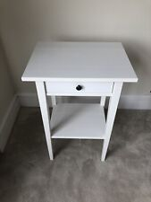 IKEA Hemnes white stain bedside table with drawer and shelf.1 Of 2.