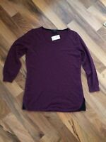 The limited merino wool blend Purple Pink Round Neck sweater SZ XS new with Tags