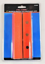 """6""""  Magnetic Urethane Waffle Face Soft Bench Vise Jaws Retention Retainers"""