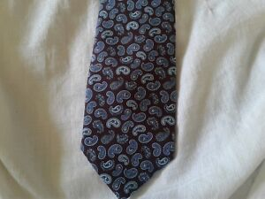 $250 BRIONI MENS 100% SILK TIE HAND MADE IN ITALY