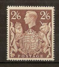 GB 1939 GVI 2/6d Brown SG476 Mint Cat£100