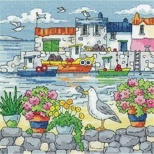 Heritage Crafts Cross Stitch Kit - Geranium Shore (Aida)