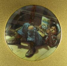 Favorite Reader Plate Boys Will Be Boys Jim Daly Danbury Mint 1991 Dog Charming!