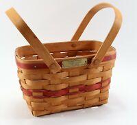 Vintage Signed 1992 Longaberger Christmas Collection Seasons Greetings Basket