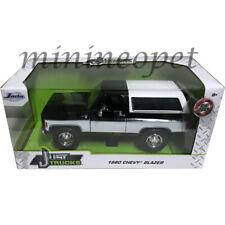 Jada 31592 Just Trucks 1980 Chevy Blazer K5 1/24 Diecast Model Car Black / White
