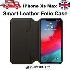 Ultra Slim Leather Folio Smart Sleep & Wake Wallet Case for Apple iPhone Xs Max