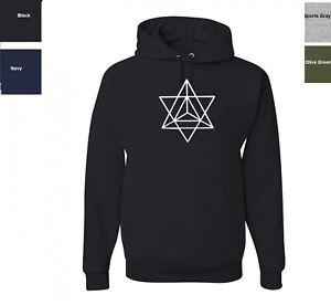 Secret Sacred Geometry Merkava Sweatshirt  Merkaba Hoodie SIZES S-3XL