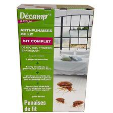 Kit complet Anti Punaises de lit, pièges, produits, protections, Décamp Radical