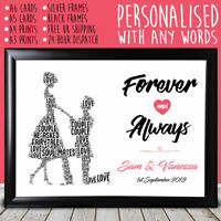 Personalised Engagement Proposal Congratulations Print Card Unique Couple Gifts